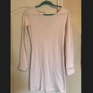Free People Pink Thermal Long Sleeve Dress S